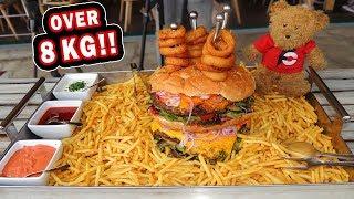 Undefeated Austrian Burger Challenge at XXL Leopoldauer Alm!!