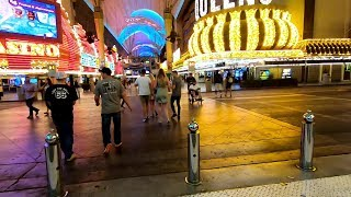 FREMONT STREET DOWNTOWN LAS VEGAS NIGHTLIFE SCENES PART TWO PLUS WALKING TO ARIA HOTEL&CASINO