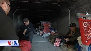 Người vô gia cư sống trong cống ngầm ở Las Vegas