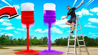 MEGA COKE & MENTOS ROCKETS! (20 GALLONS) GONE WRONG!