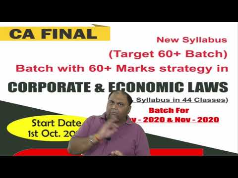 video Corporate & Economic Laws By CA Amit Popli CA FINAL Regular