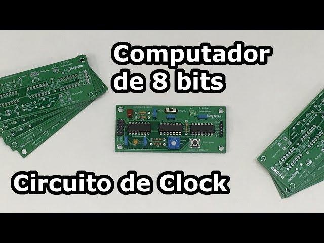 COMPUTADOR DE 8 BITS EM PCB! CIRCUITO DE CLOCK