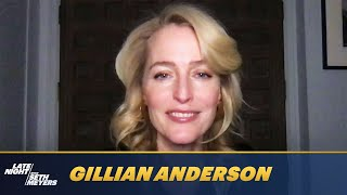 Gillian Anderson Reacts to Embarrassing Footage of The Crown Cast Dancing to Lizzo