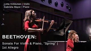 """Beethoven: Sonata for violin & piano, """"Spring"""" 1st mov Allegro - Violinist Lotta virkkunen"""