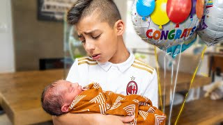 Ferran Meets His BABY BROTHER For The FIRST TIME!! | The Royalty Family
