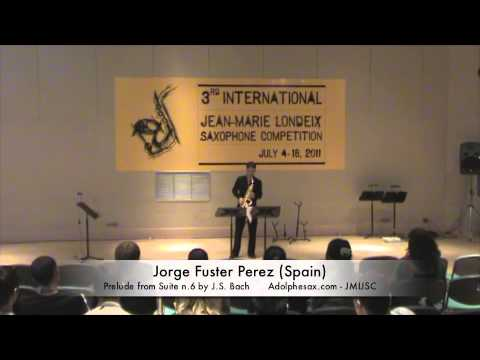 3rd JMLISC: Jorge Fuster Perez (Spain) Prelude from Suite n.6 by J.S. Bach