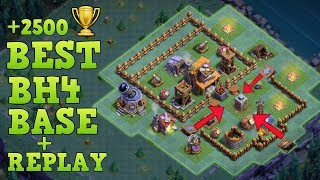 builder hall 4 base bh4 builder base defense replay base layout clash of clans - Melhor Layout Cv 4