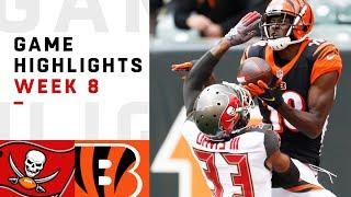 Buccaneers vs. Bengals Week 8 Highlights | NFL 2018
