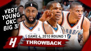 YOUNG Kevin Durant, Russell Westbrook & Harden Game 4 Highlights vs Lakers 2010 Playoffs - EPIC!