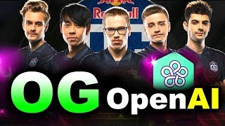Game 1 - OG vs OpenAI FIVE - TI8 CHAMPIONS vs BOTS FINAL DOTA 2 Like Playing 45 Thousand Years