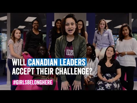 Video: Give Up Your Seat for International Day of the Girl, Girls Challenge Canadian Leaders
