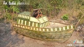 #2 Cuộc sống hoang dã: Xây thuyền trong rừng theo phong cách nguyên thủy