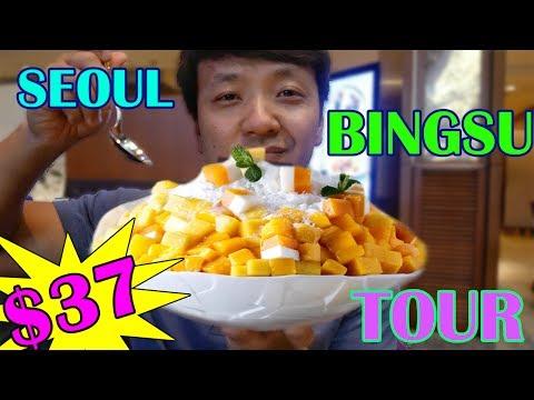 $37 Shaved Ice VS. $8 Shaved Ice in Korea (LUXURY Bingsu Tour)