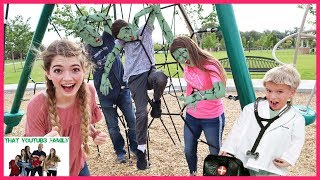 Infected - Zombie iNFECTiON Tag Game In Real Life / That YouTub3 Family I Family Channel