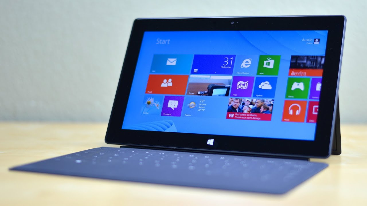 microsoft surface tablet review youtube. Black Bedroom Furniture Sets. Home Design Ideas