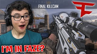 THEY THOUGHT I WAS IN FAZE AFTER I HIT THIS TRICKSHOT! (MW FFA Trickshotting w/ 8 SHOTS!)