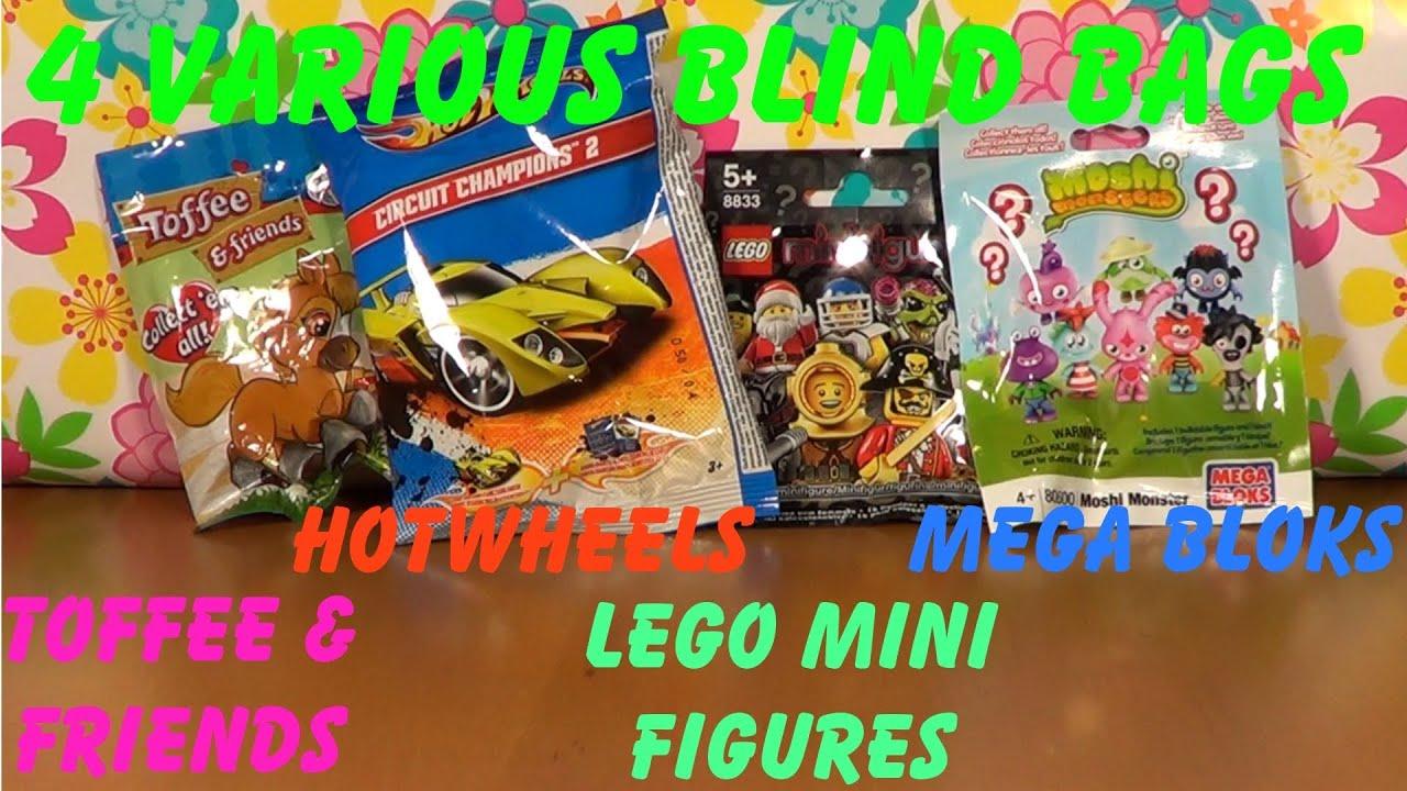 4 Various Blind Bags Toffee Amp Friends Hotwheels Lego