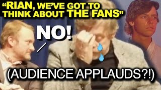 WARNING: VERY SAD! Mark Hamill is devastated on a panel for The Last Jedi.