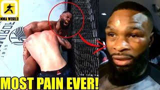 Tyron Woodley reacts to his loss to Colby Covington confirms he broke his rib during the fight,Dana