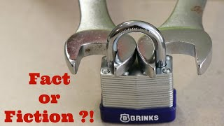 The TRUTH about HOW TO OPEN a LOCK with a NUT wrench!