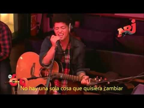 Bruno Mars - Just the way you are LIVE subtitulado en español