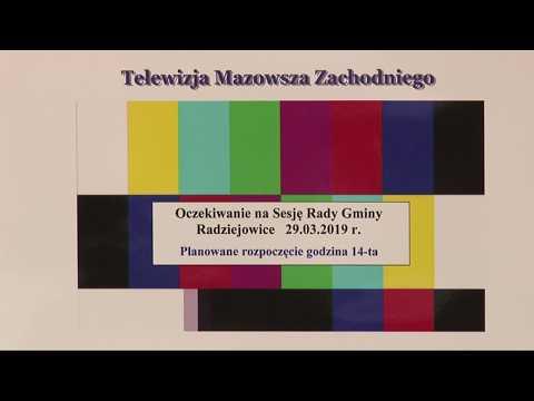 Sesja Rady Gminy Radziejowice 29.03.2019 r.
