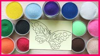 Đồ chơi trẻ em TÔ MÀU TRANH CÁT HÌNH CON BƯỚM XINH Colored Sand Painting (Chim Xinh)