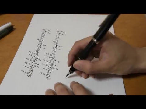 Fountainpen writing [a to z]  Copperplate cursive