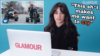 Camila Cabello listening to Twenty One Pilots