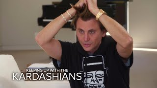 KUWTK | Kim Kardashian West Grills Friend About His Hair | E!
