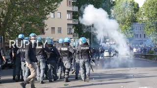 Italy: Lazio fans clash with police hours ahead of Rome derby