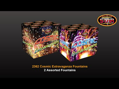 Bright Star Fireworks Cosmic Extravaganza Fountains - Pack of 2