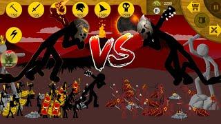 Regular Army & 1 Griffon VS Enemy Troops & Final Boss | Insane MODE Campaign | Stick War Legacy