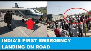 Aircraft makes emergency landing on Express Highway..