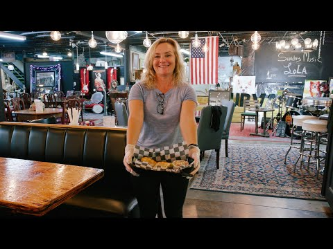 screenshot of youtube video titled Antique Mall Cafe | Backroad Bites