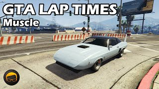 Fastest Muscle Cars (2020) - GTA 5 Best Fully Upgraded Cars Lap Time Countdown