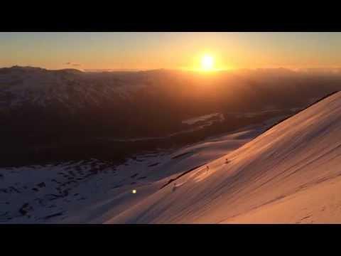 Midnight Sun Heliskiing in Iceland with Arctic Heli Skiing