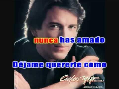 Carlos Mata - Dejame Intentar karaoke