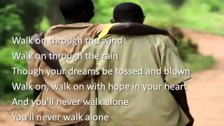 You'll Never Walk Alone ~ Jim Nabors ~ lyric video