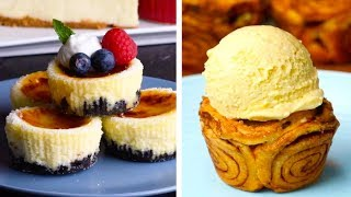 6 Clever Dessert Mashup Recipes | S'mores Baked Alaska & Oreo Crème Brûlée Cheesecake | So Yummy