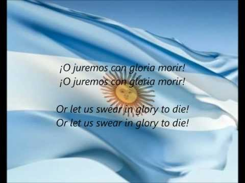 Argentine National Anthem - ''Himno Nacional Argentino'' (ES/EN)