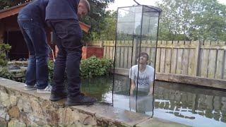 Huge inverted aquarium/ upside down fish tank ( part 1)