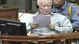Khmer Rouge leader defends communism at genocide trial