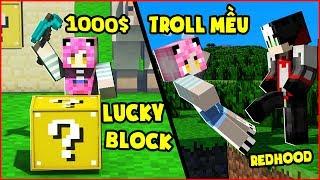 MỀU STREAM THỬ THÁCH ĐẬP LUCKY BLOCK ĐUA VÀ PARKOUR ĐỒNG ĐỘI TRONG MINECRAFT*Mều Stream Minecraft