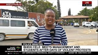 Police  Minister Bheki Cele visits University of Zululand after unrest