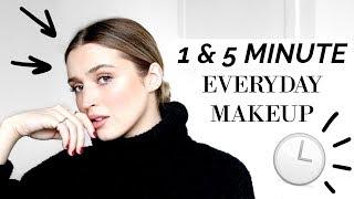 ⏱ 1 & 5 MINUTE EVERYDAY MAKEUP LOOKS ⏱ | allanaramaa