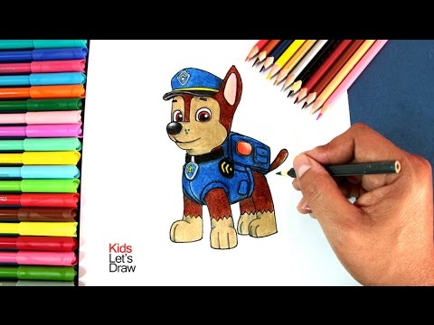 How To Draw Chase From Paw Patrol Hde Videomoviles Com