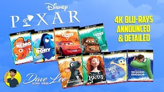 DISNEY PIXAR 4K Blu-Rays Announced & Detailed (inc. FINDING NEMO, RATATOUILLE, INSIDE OUT)