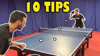 10 Tips To Become A Better Table Tennis Player Quickly