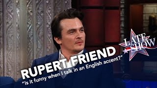'Homeland' Star Rupert Friend Shows Off His Thick English Accent